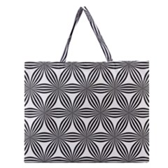 Seamless Pattern Repeat Line Zipper Large Tote Bag by Nexatart