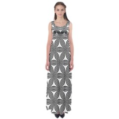 Seamless Pattern Repeat Line Empire Waist Maxi Dress