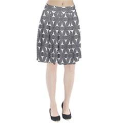 Seamless Pattern Repeat Line Pleated Skirt