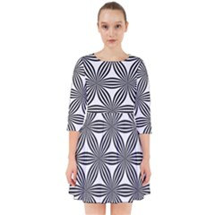 Seamless Pattern Repeat Line Smock Dress by Nexatart