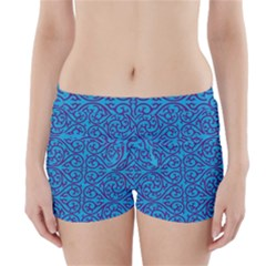 Monogram Blue Purple Background Boyleg Bikini Wrap Bottoms