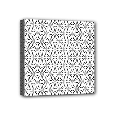 Seamless Pattern Monochrome Repeat Mini Canvas 4  X 4