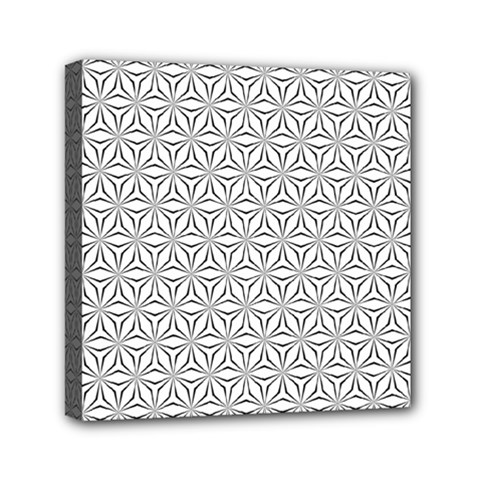 Seamless Pattern Monochrome Repeat Mini Canvas 6  X 6