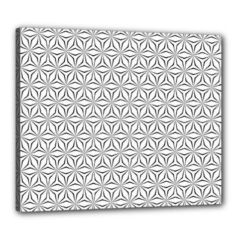 Seamless Pattern Monochrome Repeat Canvas 24  X 20