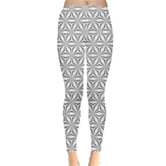 Seamless Pattern Monochrome Repeat Leggings  by Nexatart