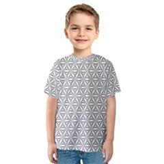 Seamless Pattern Monochrome Repeat Kids  Sport Mesh Tee