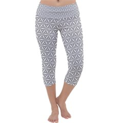 Seamless Pattern Monochrome Repeat Capri Yoga Leggings