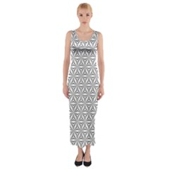 Seamless Pattern Monochrome Repeat Fitted Maxi Dress by Nexatart