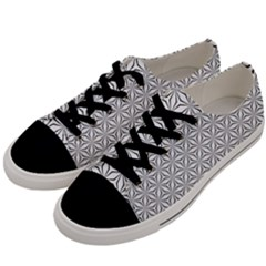Seamless Pattern Monochrome Repeat Men s Low Top Canvas Sneakers by Nexatart