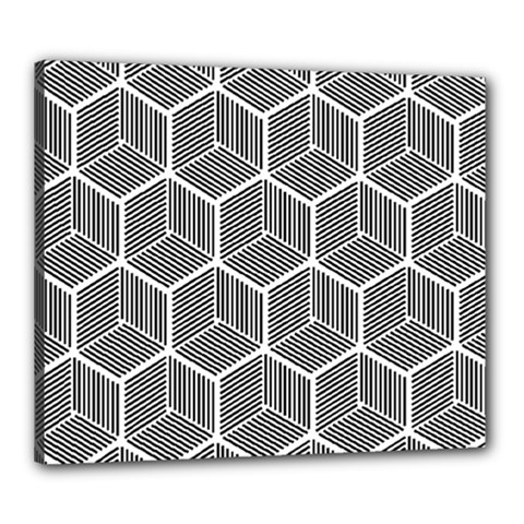 Cube Pattern Cube Seamless Repeat Canvas 24  X 20  by Nexatart