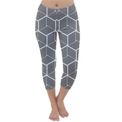 Cube Pattern Cube Seamless Repeat Capri Winter Leggings