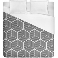 Cube Pattern Cube Seamless Repeat Duvet Cover (king Size)
