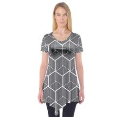 Cube Pattern Cube Seamless Repeat Short Sleeve Tunic