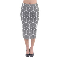 Cube Pattern Cube Seamless Repeat Midi Pencil Skirt
