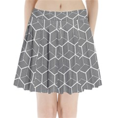 Cube Pattern Cube Seamless Repeat Pleated Mini Skirt
