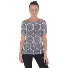 Cube Pattern Cube Seamless Repeat Short Sleeve Top