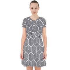 Cube Pattern Cube Seamless Repeat Adorable In Chiffon Dress