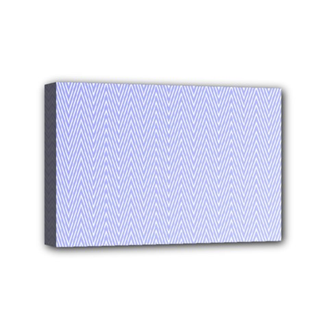 Zigzag Chevron Thin Pattern Mini Canvas 6  X 4