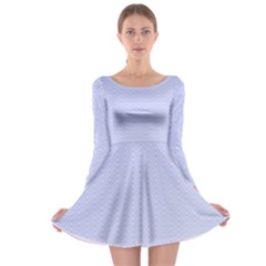 Zigzag Chevron Thin Pattern Long Sleeve Skater Dress