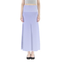 Zigzag Chevron Thin Pattern Full Length Maxi Skirt