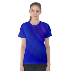 Blue Background Abstract Blue Women s Cotton Tee