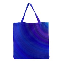 Blue Background Abstract Blue Grocery Tote Bag