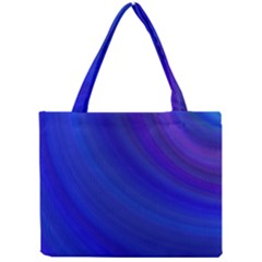 Blue Background Abstract Blue Mini Tote Bag