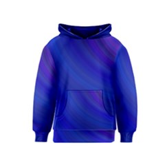Blue Background Abstract Blue Kids  Pullover Hoodie