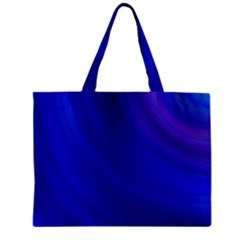 Blue Background Abstract Blue Zipper Mini Tote Bag