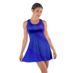 Blue Background Abstract Blue Cotton Racerback Dress