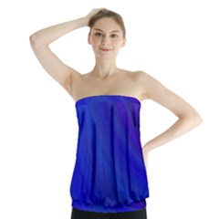 Blue Background Abstract Blue Strapless Top