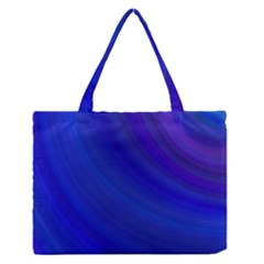 Blue Background Abstract Blue Zipper Medium Tote Bag by Nexatart