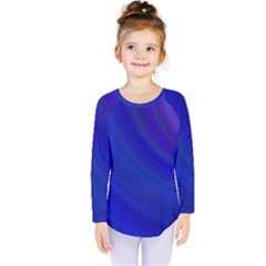 Blue Background Abstract Blue Kids  Long Sleeve Tee