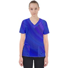 Blue Background Abstract Blue Scrub Top