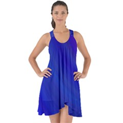 Blue Background Abstract Blue Show Some Back Chiffon Dress