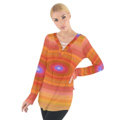 Ellipse Background Orange Oval Tie Up Tee