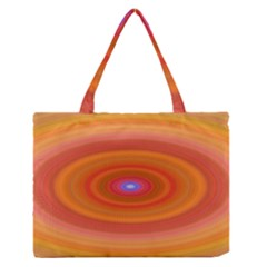 Ellipse Background Orange Oval Zipper Medium Tote Bag
