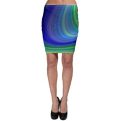Space Design Abstract Sky Storm Bodycon Skirt