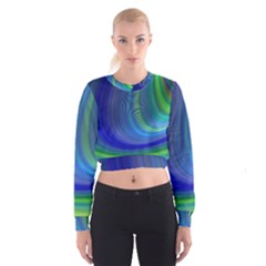 Space Design Abstract Sky Storm Cropped Sweatshirt