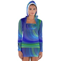 Space Design Abstract Sky Storm Long Sleeve Hooded T Shirt
