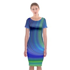 Space Design Abstract Sky Storm Classic Short Sleeve Midi Dress