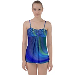 Space Design Abstract Sky Storm Babydoll Tankini Set