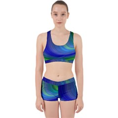 Space Design Abstract Sky Storm Work It Out Sports Bra Set