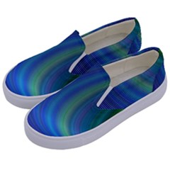 Space Design Abstract Sky Storm Kids  Canvas Slip Ons by Nexatart