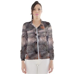 Fireplace Flame Burn Firewood Wind Breaker (women)