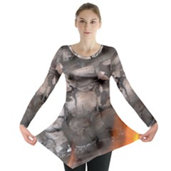 Fireplace Flame Burn Firewood Long Sleeve Tunic