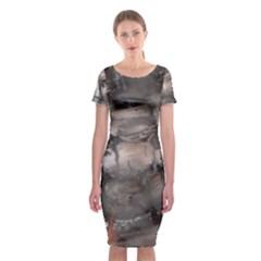 Fireplace Flame Burn Firewood Classic Short Sleeve Midi Dress by Nexatart