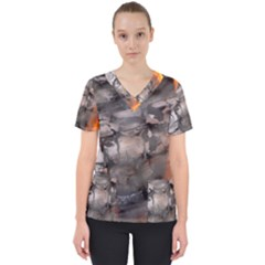 Fireplace Flame Burn Firewood Scrub Top