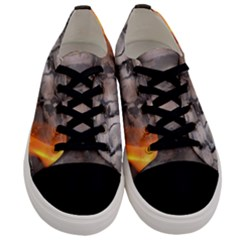 Fireplace Flame Burn Firewood Men s Low Top Canvas Sneakers
