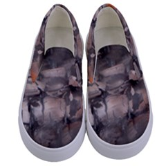 Fireplace Flame Burn Firewood Kids  Canvas Slip Ons